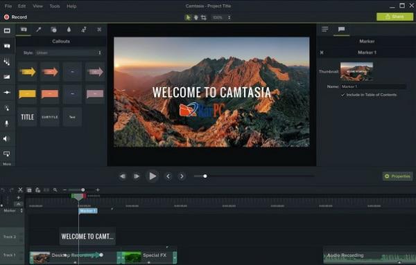 Camtasia Studio download for windows