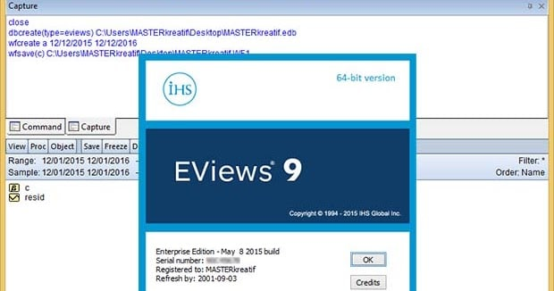 EViews 9 Crack Enterprise Edition